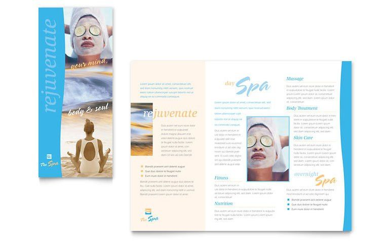 Spa Brochure Template. 8 Best Printable Health Club Brochure ...