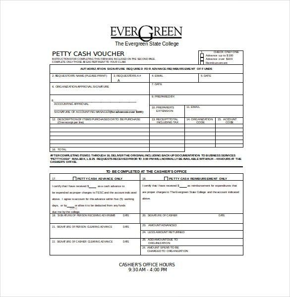 Cash Voucher Template – 12+ Free Printable, PDF Documents Download ...