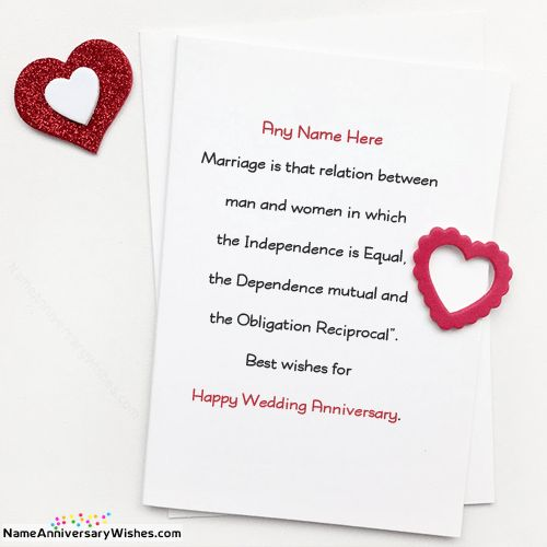 Marriage Anniversary Card Images With Name