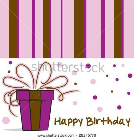 Vector Happy Birthday Card Layout Stripes Stock Vector 28060735 ...