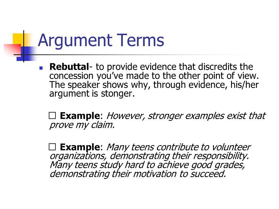 rebuttal example online essays college essays service  argument persuasive techniques ppt video online