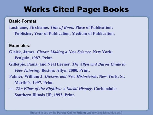 MLA Citation Styles
