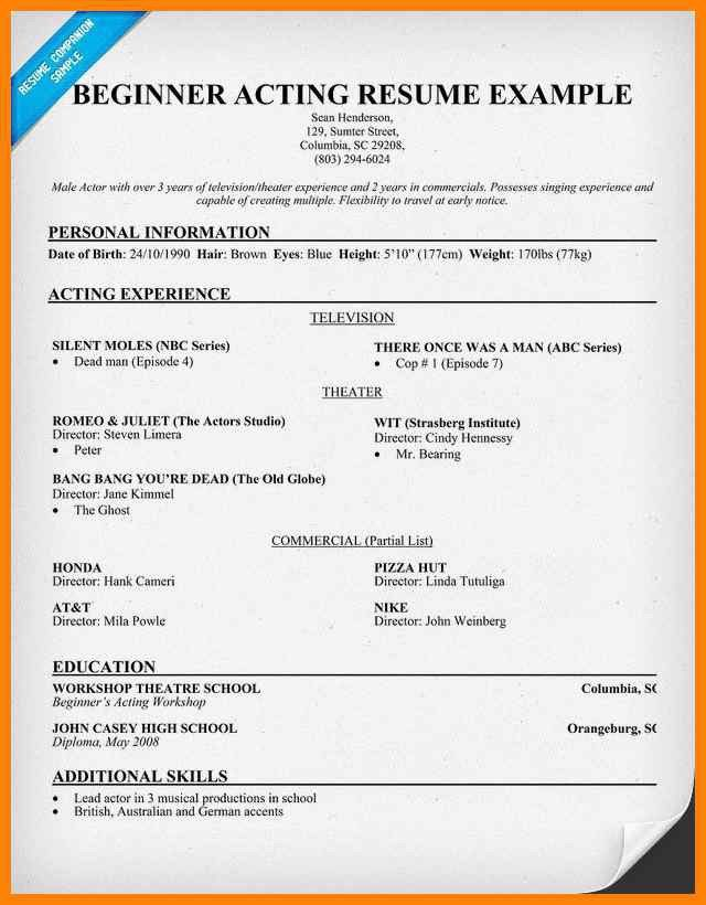 Theater Resume Example. hugh laurie actor resume. assistant ...