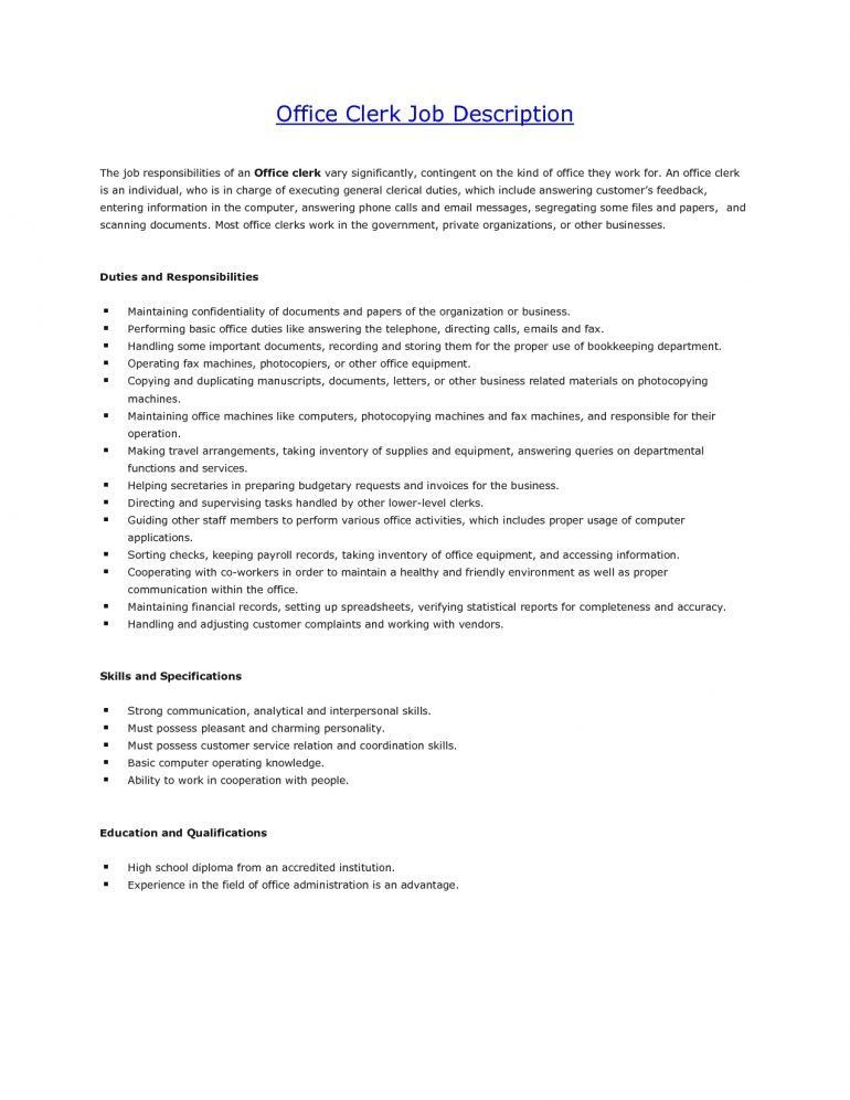 accounting clerk job description best job cover letter examples