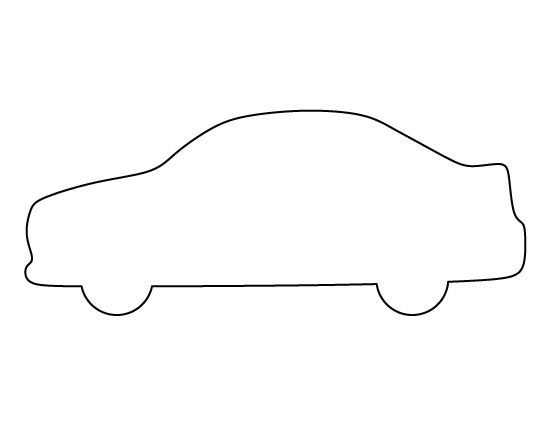 Car pattern. Use the printable outline for crafts, creating ...