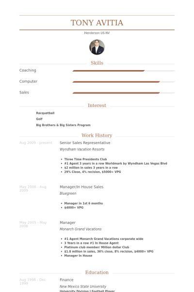 Senior Sales Representative Resume samples - VisualCV resume ...