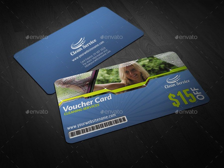Cleaning Services Voucher Gift Card by OWPictures   GraphicRiver