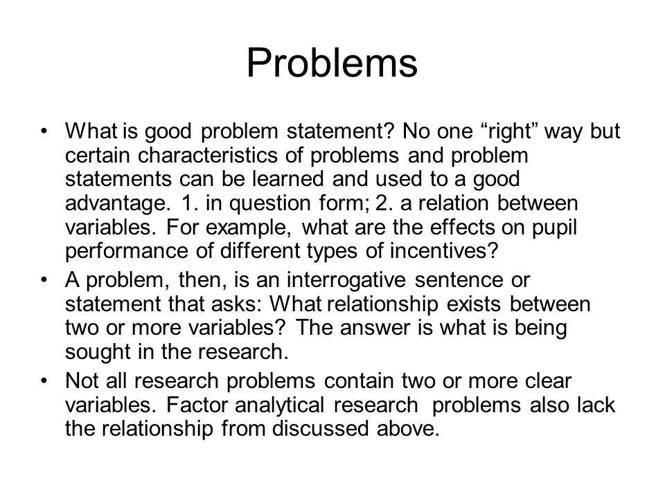 Problems and Hypotheses - ppt video online download
