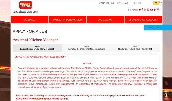 Golden Corral Job Application - Adobe PDF - Apply Online