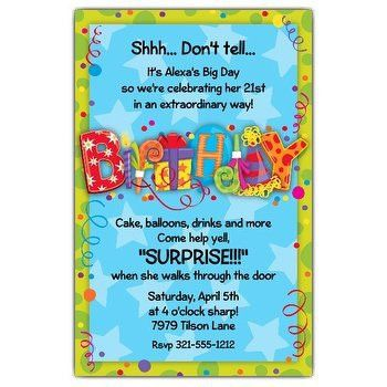 Surprise Party Invitation wording | PaperStyle