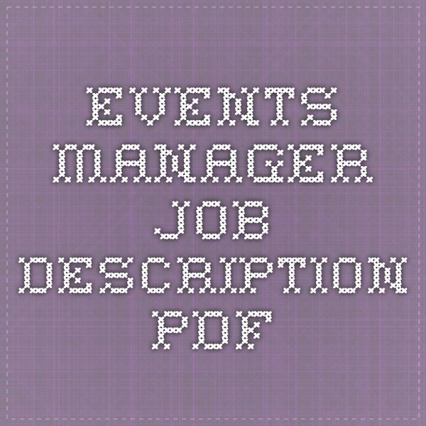 Best 25+ Event coordinator job description ideas only on Pinterest ...