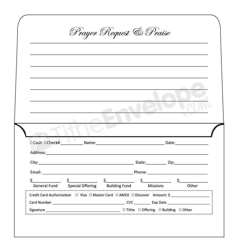 tithe envelopes template | remittance envelopes template