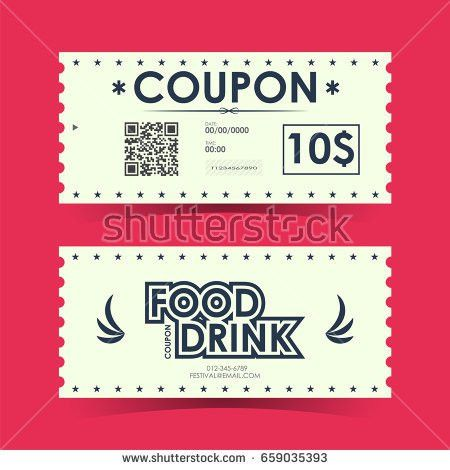 Coupon Gift Voucher Ticket Card Element Stock Vector 666490414 ...