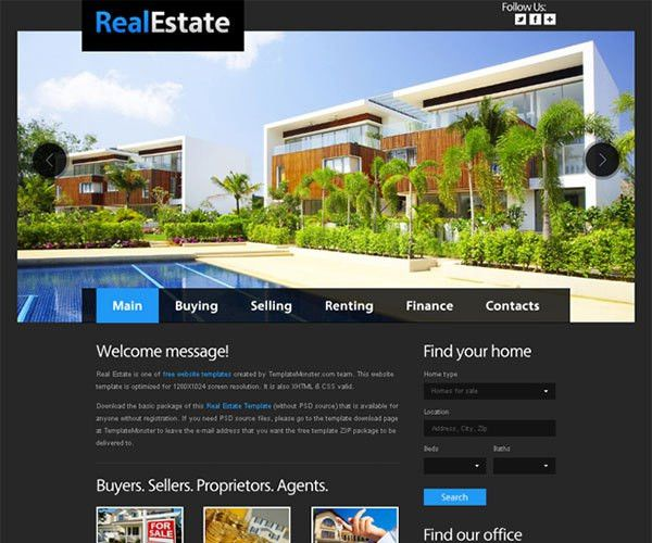 19 Free Real Estate HTML Website Templates | TemplateMag