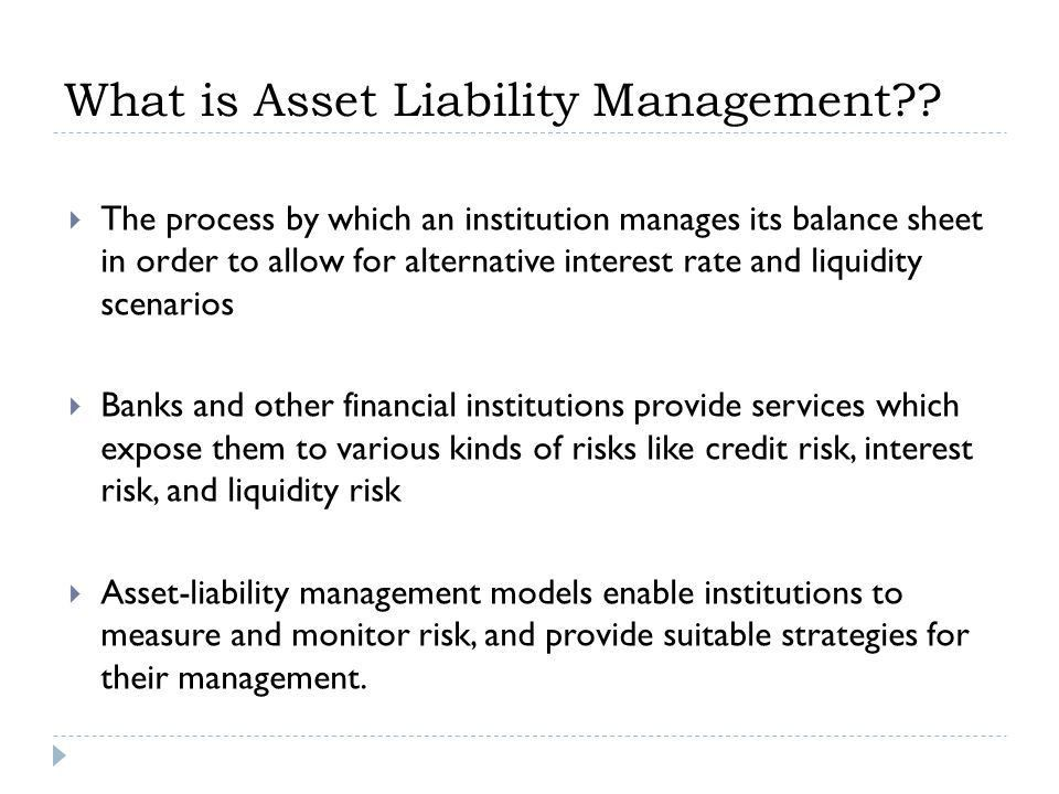 Asset Liability Management in Banks. Components of a Bank Balance ...