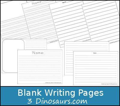 Free Blank Writing Page Printable - 3Dinosaurs.com | 3 Dinosaurs ...