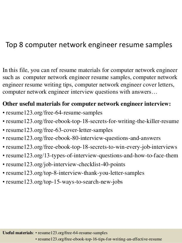 Network Engineer Resume Template. Resume Format Download For .