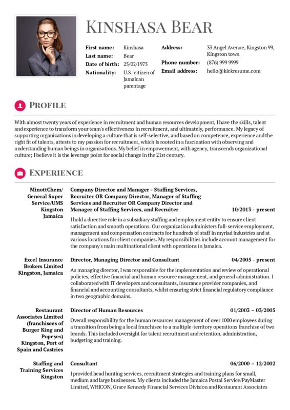 Management resume samples | Career help center