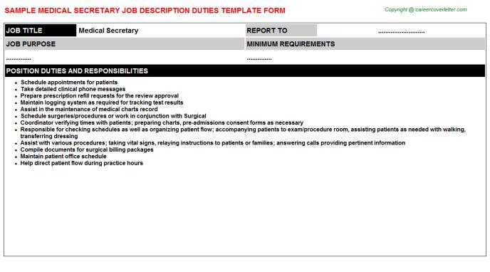 Medical Secretary Job Title Docs