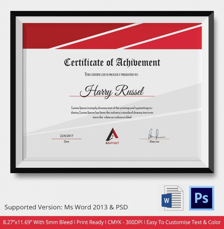 Thank You Certificates - PSD & Word Designs | Design Trends ...