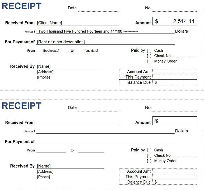 Free Petty Cash Receipt Templates | InvoiceBerry