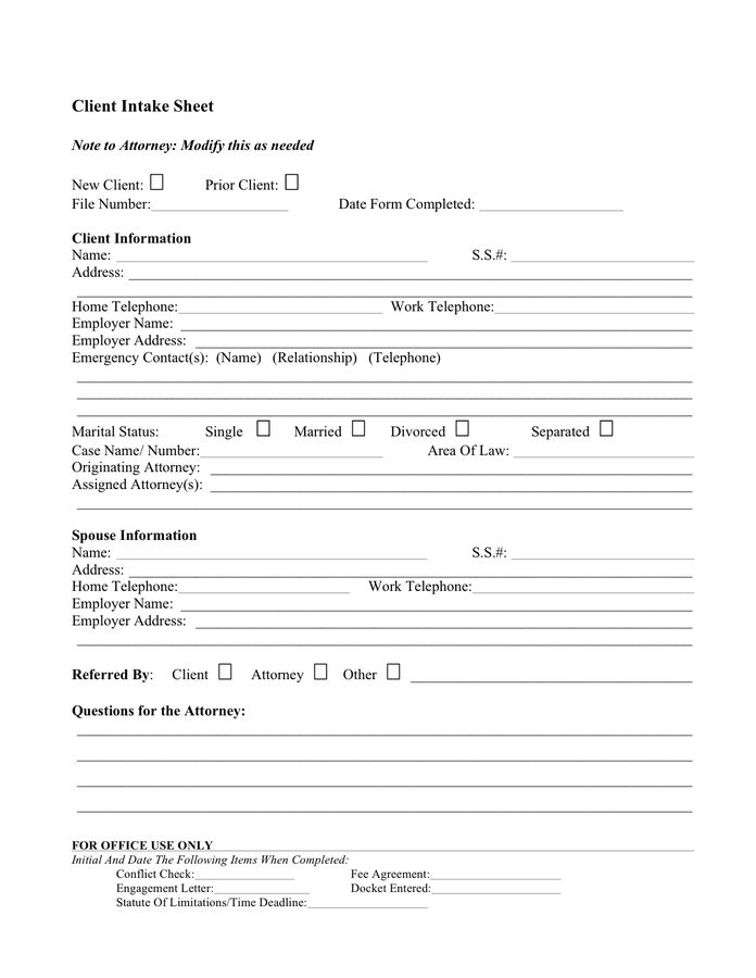 Client profile sample - download free documents for PDF, Word and ...