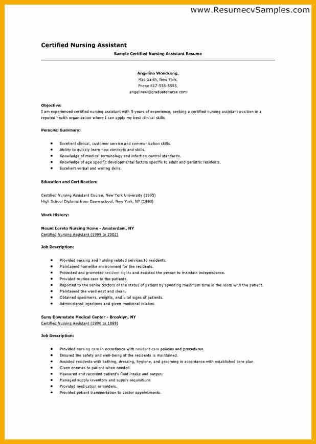 entry level cna resume sample sample cover letter for cna resume ...