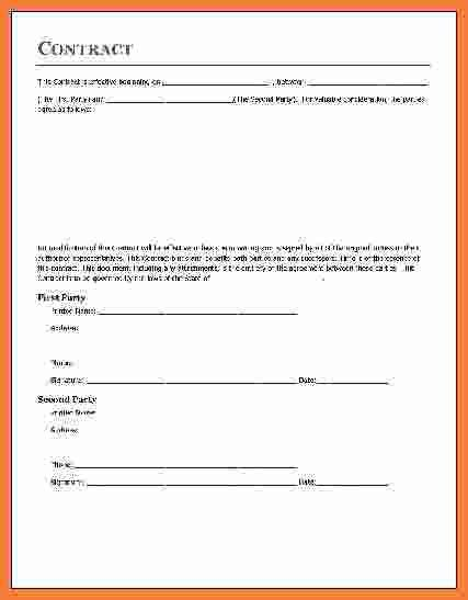 8+ contract agreement template | Marital Settlements Information
