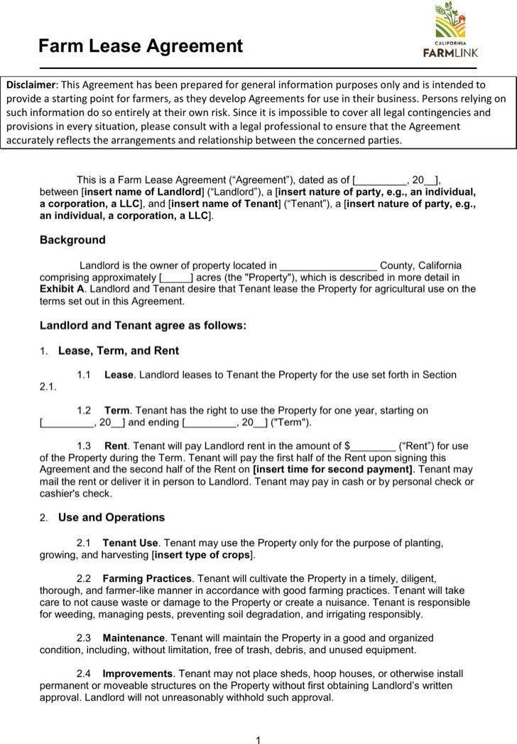 Equipment Lease Agreement. Pdf Format Blank Equipment Rental ...