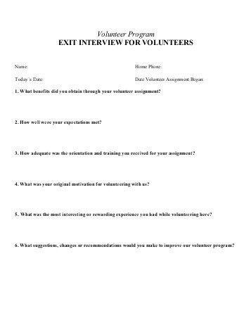 Exit Interview Report Que