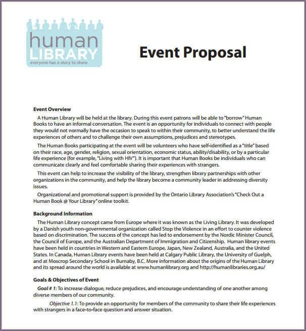 SAMPLE EVENT PROPOSAL LETTER   proposalsampleletter.com