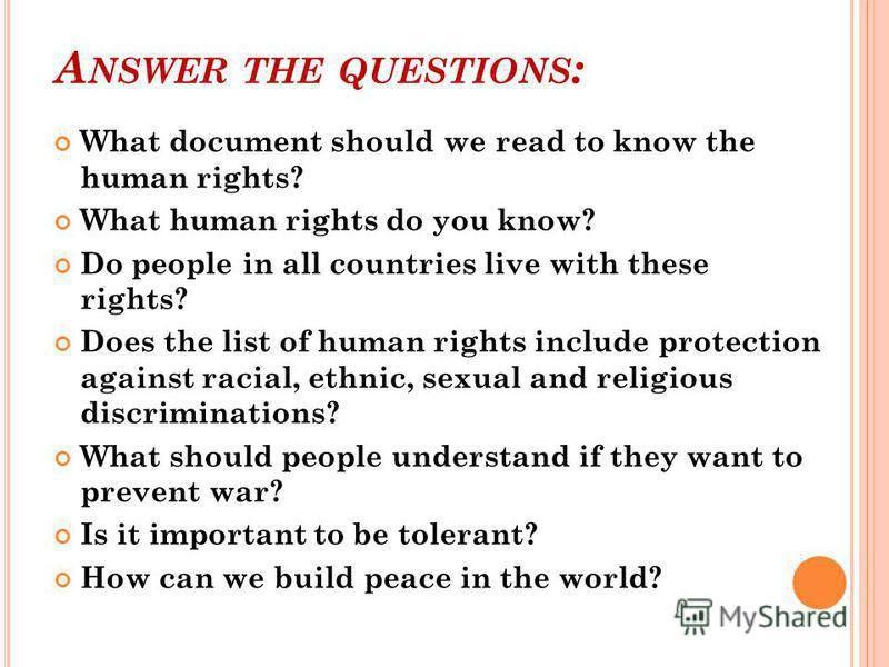 "Презентация на тему: ""The Universal Declaration of Human Rights ..."