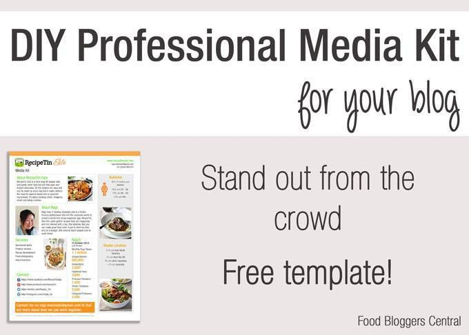 FREE Media Kit Template | Food Bloggers Central