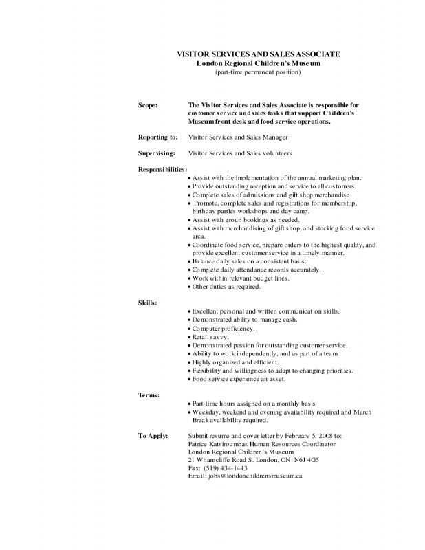 5 Retail Sales Associate Job Description For Resume Job Duties job ...