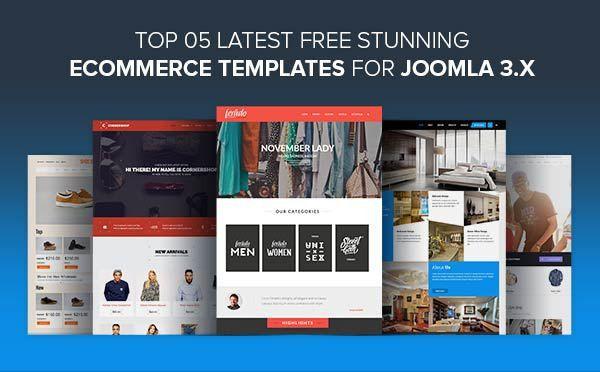 Top 5 Latest Free Stunning eCommerce Templates for Joomla 3.x