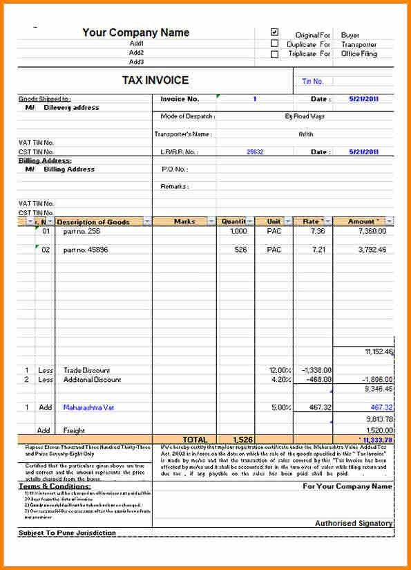 invoice format 4