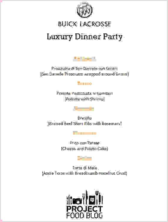 5+ Dinner Party Menu Template | Procedure Template Sample
