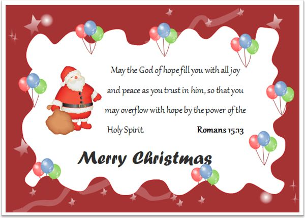 8 Christmas Card with Bible Verses - Free Download