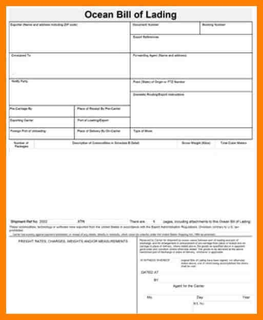 6+ bill of lading example | addressing letter