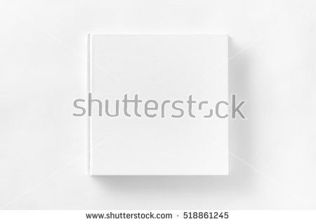 Mockup Opened Blank Square Ctalogue White Stock Photo 518861248 ...