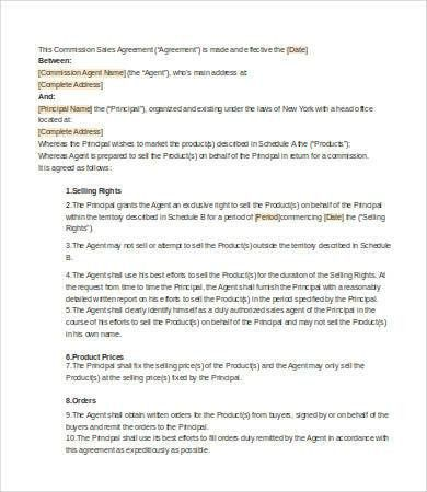 Sales Agreement - 9+ Free Word, PDF Documents Download | Free ...