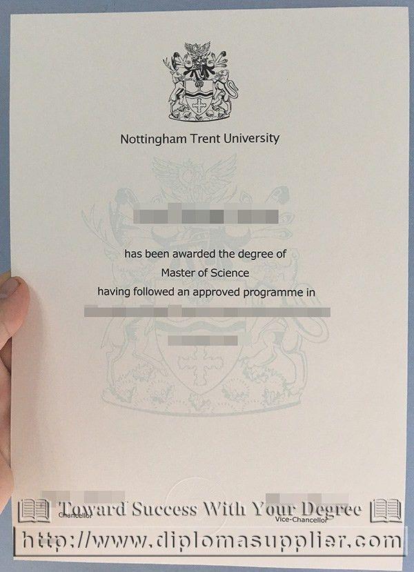 fake MSc degree from Nottingham Trent University - Fake ...