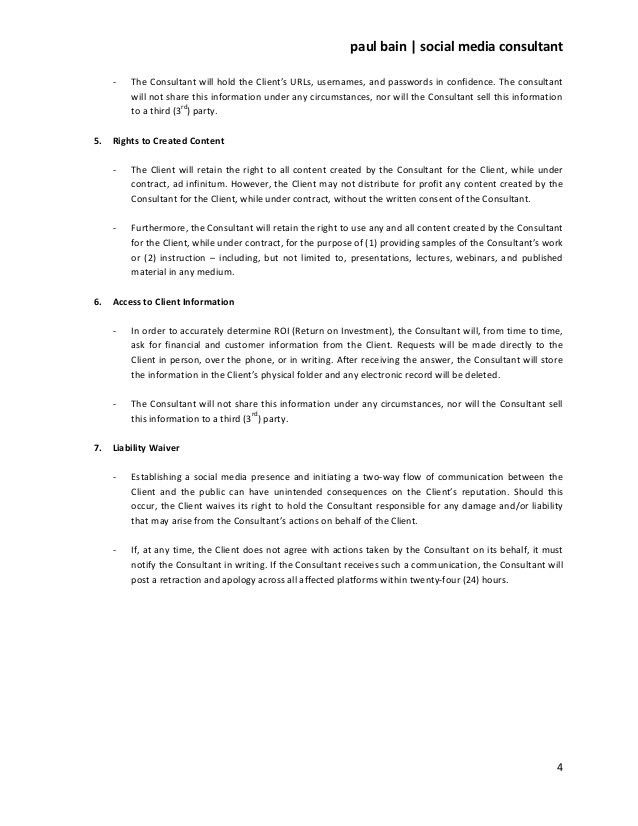 Consulting Agreement Examples. Download Consulting Contract ...