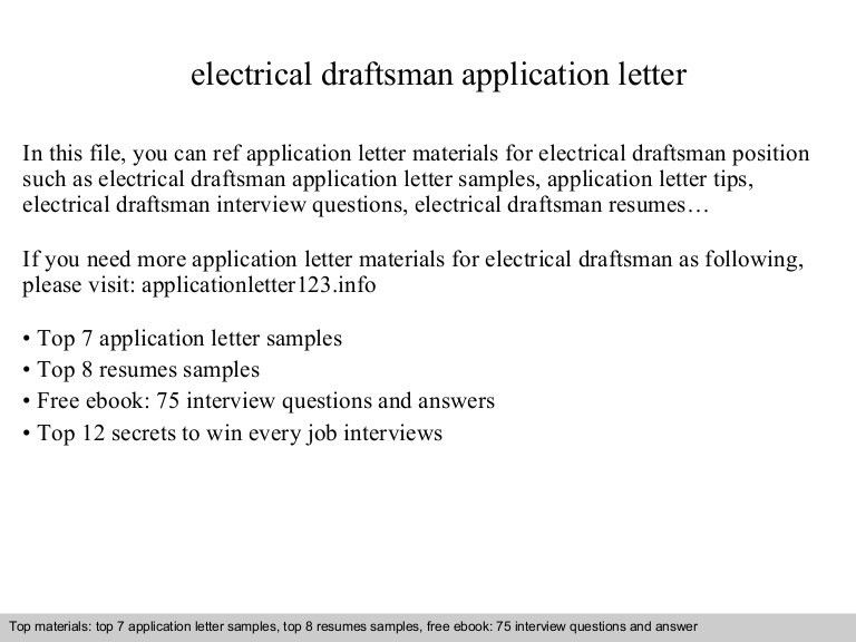 Electrical draftsman application letter