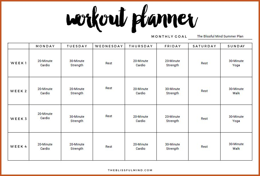 workout schedule template | sop example
