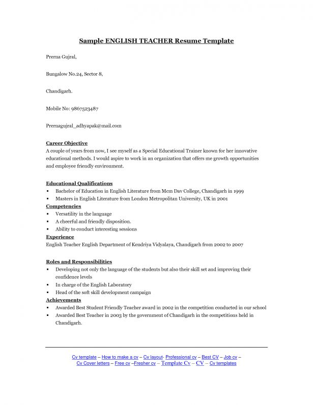 Curriculum Vitae : Cv For Freshers Pacific Northwest Pilates ...