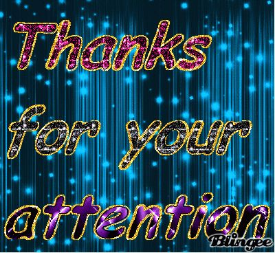 thanks for your attention Animated Pictures for Sharing #130106597 ...