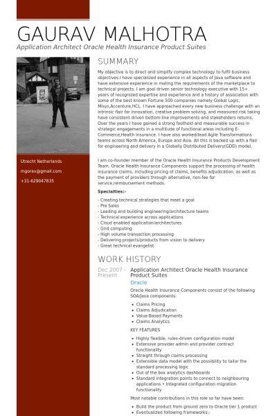 Insurance Resume samples - VisualCV resume samples database