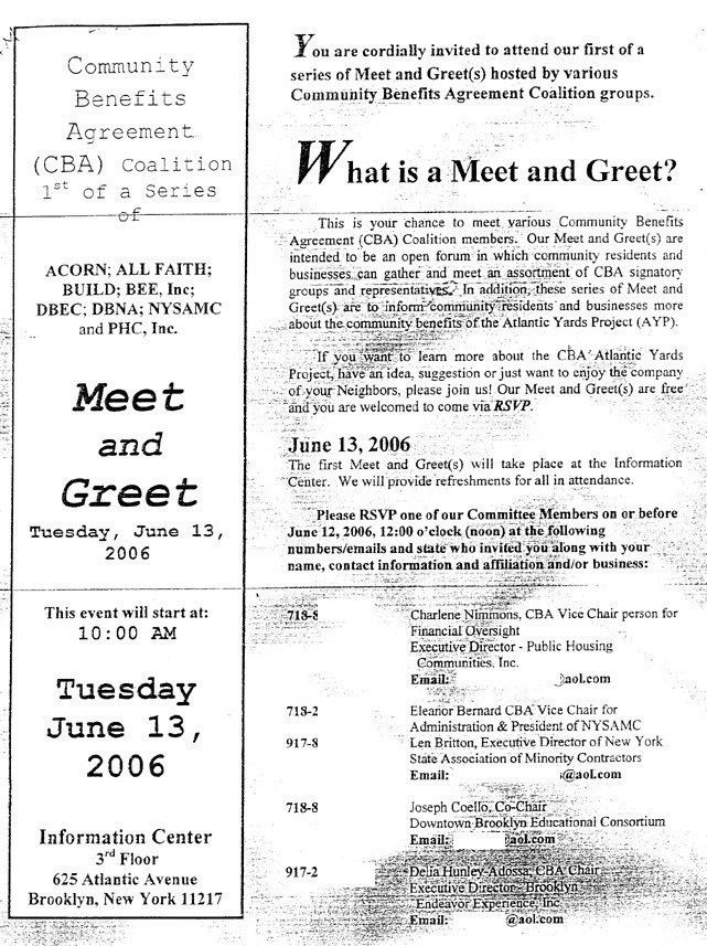 """CBA coalition launches invite-only """"Meet & Greet"""" sessions"""