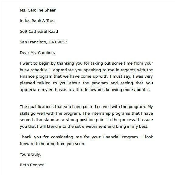 Thank You For Your Business Letters - Letter Template
